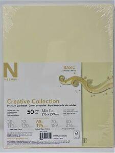 Neenah Creative Collection 65lb Premium Cardstock 50 Sheets #91335 Cream