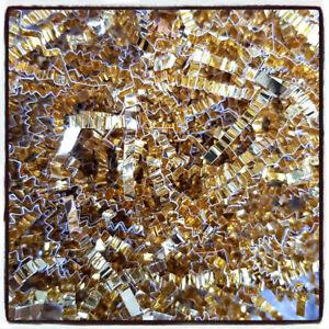 GOLD Shredded Luxury Tissue Paper Crinkle Zig Zag Hamper Gift 60gr