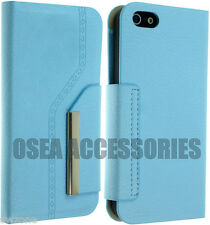 For Apple IPhone 5 5G 5S Leather Case Cover PU Flip Pouch Book Set Phone Wallet