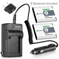 Kastar Battery and Normal Charger Kit for Sony NP-BK1 Type K CyberShot DSC W180