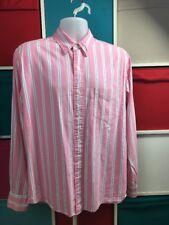"American Eagle Outfitters Camiseta para hombre Talla M Pecho 44"" Rosa A Rayas"