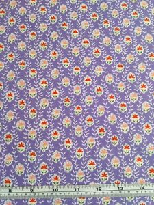 100% Cotton Poplin Fabric Lilac Purple Floral Material Dress Craft Sewing Skirt