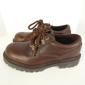 GBX Oxford Mens Brown Leather Andre Work / Casual Shoes Lace Up Low Top Size 8.5