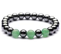 8mm agate Hematite Bracelet Reiki pray Unisex men mala Healing Lucky Gemstone
