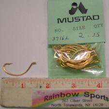 Mustad 37162 #2 Gold Wide Gap, Kahle Hooks - 25pk. 37160 Drop Shot