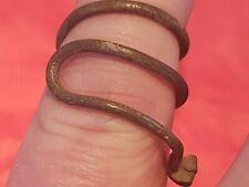 Very rare Viking warrior bronze coiled snake ring. Please read description. L80k