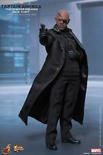HOT TOYS Captain America Winter Soldier Nick Fury Samuel L. Jackson 1/6 Figure
