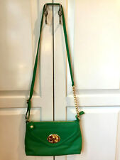 Emma Fox Classics Envelope Crossbody Green Leather Bag