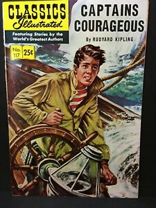 Classics Illustrated #117 HRN 169 F/VF  Captains Courageous