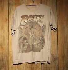 Disney Raiders Of The Lost Ark Indiana Jones Beige T-Shirt Adult Size Large
