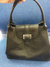 LONGCHAMP PARIS Black leather Brief Purse bag  -