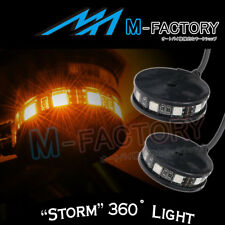 For Harley Davidson Motorcycles Yellow Storm Style Turn Signal LED Light 2pcs