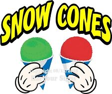 Snow Cones Decal Choose Your Size And Color Concession Food Truck Sticker M