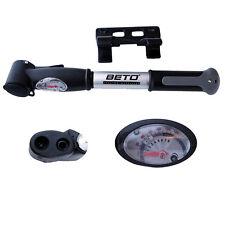 NEW Beto CLD-024G Dual Head Mini Pump with 120 PSI Gauge Alloy Barrel