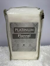 Platinum Home Products 100% Cotton Flannel Twin Sheet Set NEW