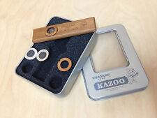 Woodman Premium Wooden Kazoo w/Metal Padded Box - Additional Membrane Included