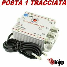 Amplificatore segnale antenna TV DIGITALE TERRESTRE via cavo 3 USCITE +20dB TOP