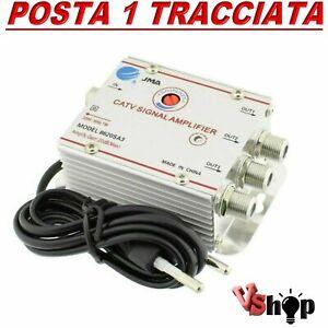 Amplificatore segnale antenna TV DIGITALE TERRESTRE via cavo 3 USCITE +20dB TOP