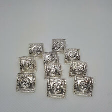 Set Of 10 Small 12mm Silver Plated Kilt Jacket Prince Charlie Crail Buttons New