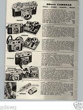 1957 PAPER AD Nikon S-2 35MM Camera Nikkor Lens Kodak Retina IIIc Graphic Minox