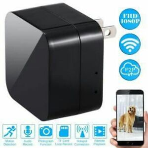 A8 1080P WIFI AC Charger Spy camera with motion detection 220V power supply