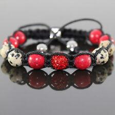 Femmes Dalmatiens Lapis Pierre Shamballa Bracelet Réglable, Pour Femmes
