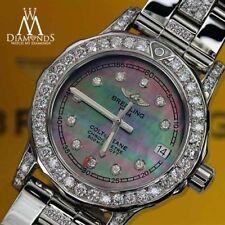 Relojes de pulsera fecha Breitling de acero inoxidable