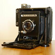 :Graflex Anniversary Speed Graphic 4x5 Black Camera w/ Optar 135mm f4.7 Lens