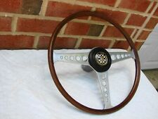 1968-71 JAGUAR E-TYPE XKE ORIGINAL STEERING WHEEL WITH HORN BUTTON