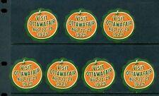 7 VINTAGE1925 VISIT OTTAWA FAIR POSTER STAMPS (L540) PUMPKIN CANADA TOURISM