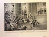 m17c5 ephemera ww1 picture british soldiers church billets weatern front