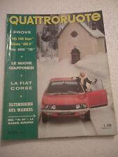 fascicolo quattroruote dicembre 1972
