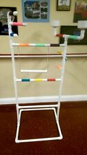 PVC Parrot Play Stand DELUXE LARGE FLOOR PERCH ** With SWING**