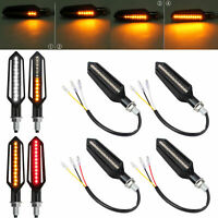 Black Flowing LED turn signal indicator Harley Suzuki Yamaha Kawasaki custom
