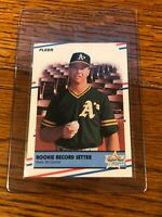 1988 Fleer Mark McGwire #629 Rookie Record Setter