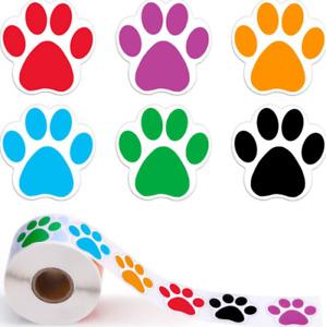 DOG PAW STICKERS LABELS ANIMAL PAW
