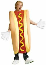 Adult Hot Dog Costume Hotdog Halloween Food Funny Fancy Dress Unisex Womens Mens