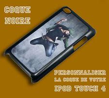 Coque noire iPod Touch 4 4G personnalisable avec votre photo, logo et texte