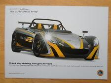 Lotus 2 Once prospecto Folleto 2009-pista días de conducción acaban de graves