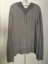 DKNY MENS COTTON HOODED PULLOVER LONG SLEEVE IN GREY SIZE XL