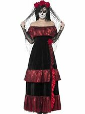Mexican Day of the Dead Bride Costume, UK 16-18, Fancy Dress
