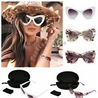 Womens Retro Cat Eye Sun Glasses Shades Oversized Eyewear Eyeglasses Sunglasses