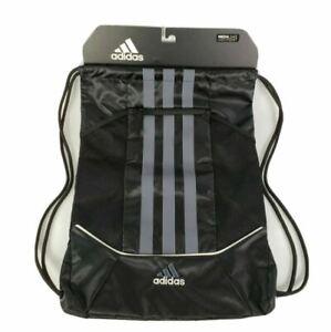 Adidas 3 Stripes II Rival Sack Pack - Lined Media Pocket, Black/Grey/White