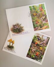 TAIWAN Wild Mushrooms of Taiwan (I) (2010) & (II) (2012) - Miniature Sheet FDC