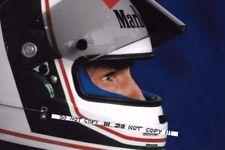 9x6 Photograph, Andrea de Cesaris ,  7Up Jordan Helmet Portrait , 1991 GP Season