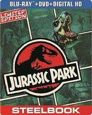 Jurassic Park  (Blu-ray/DVD/Digital, Steelbook)Brand New