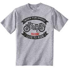 Moto GUZZI FALCONE-nueva Camiseta Algodón Gris-todos Los Tamaños En Stock