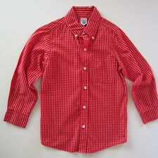 Orient Expressed Boys SZ 6 Red White Check Dress Shirt Cotton Poly