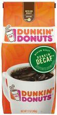 NEW SEALED DUNKIN DONUTS MEDIUM ROAST DUNKIN DECAF GROUND COFFEE 12 OZ