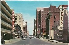 Broadway Looking North in Wichita KS Postcard 1956